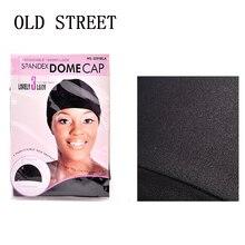 12 Stks/partij Dome Cap Elastische Kous Haarnetjes Pruiken Liner Caps Weave Cap Onzichtbare Haar Netto Nylon Stretch Pruik Netto Cap zwarte Kleur