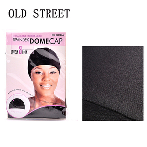 Image 1 - 12pcs/lot Dome Cap Elastic Stocking Hairnets Wigs Liner Caps Weave Cap Invisible Hair Net Nylon Stretch Wig Net Cap Black Color