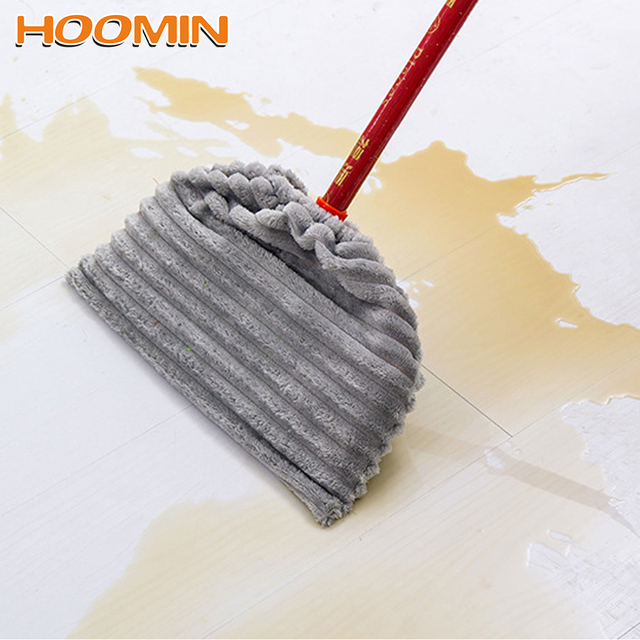 HOOMIN Flannel Mop Cloth Cover Reusable Multi-function Broom Mop Replacement Cover Floor Cleaning Rag Household Cleaning Tools