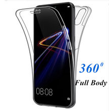 Transparent 360 Degree Full Body Case For Huawei P Smart 2019 P8 P9 P10 P20 Lite Pro Mate20 Lite Silicone Thin TPU Soft Cover(China)