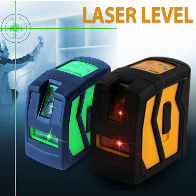 Rouge/Vert Laser Niveau Support Auto-Nivellement Laser Niveaux 2 Faisceau Croix Ligne Leveler Mesure Outil Universel Clip mini Taille