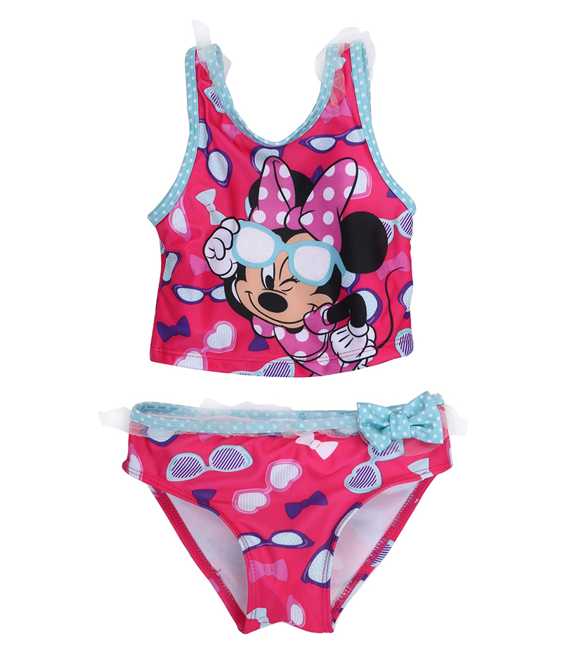 Hirigin Cartoon Baby Girls Swimwear 2019 New микки Bikini Swimsuit Kids Tankini Beach Bathing Suit Lace Prinecess Swimming Suit