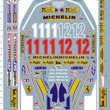 Racing-Car-Model-Kit Gilles Villeneuve Marine-Decal 1/12-Scale F1 Detail Sports 312T4