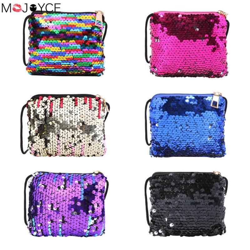 Sequins Coin Wallet For Kids Girls Fashion Mini Crossbody Handbags Casual Children Glitter Shoulder Zipper Messenger Bags Bolsa
