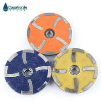 DC RCW 3pcs/set Diameter 100mm resin filled steel core stone 4 inch diamond cup wheels for grinding stone stone wheel wheels for wheels wheel -
