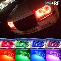 For Chrysler 300C 2004 2005 2007 2008 2009 2010 RF Bluetooth APP Controller Multi Color Ultra bright RGB LED Angel Eyes kit