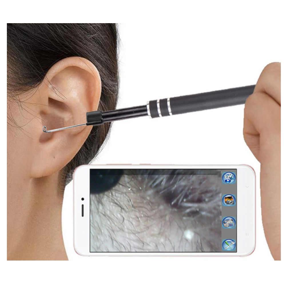 ครัวเรือน 300,000 จอแสดงผล 5.5 มิลลิเมตรหู Endoscope วิดีโอความปลอดภัยทางการแพทย์ IP67 กล้องกันน้ำใช้งานง่าย Perfect ของขวัญ
