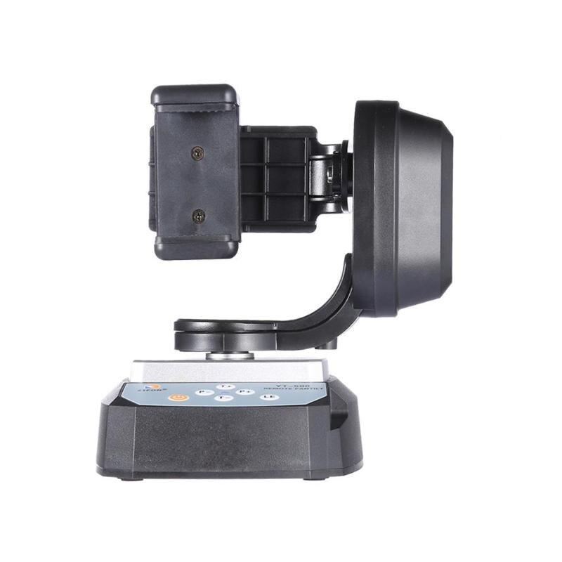 YT-500 télécommande panoramique inclinaison Auto motorisé rotatif vidéo trépied tête stabilisateur pour caméra Smartphone trépied tête monopode