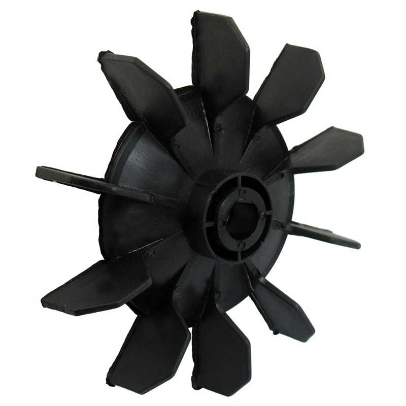 ضاغط الهواء جزء أسود البلاستيك 14 مللي متر الداخلية ضياء. عشرة دوارات مروحة محرك شفرة
