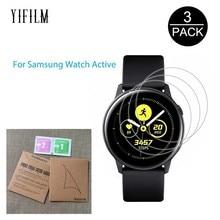 3 paket Samsung Galaxy saat aktif Active2 40mm 44mm akıllı saat 5H Nano patlamaya dayanıklı ekran koruyucu HD anti şok filmi
