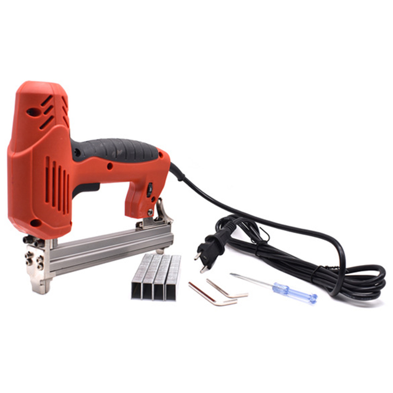 Framing Electric Staples With 300Pcs Nails 220V 2000W Electric Power Tools For Woodworking Hand Tool Eu PlugFraming Electric Staples With 300Pcs Nails 220V 2000W Electric Power Tools For Woodworking Hand Tool Eu Plug
