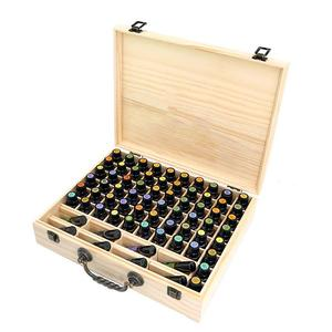 wooden essential oil storage b