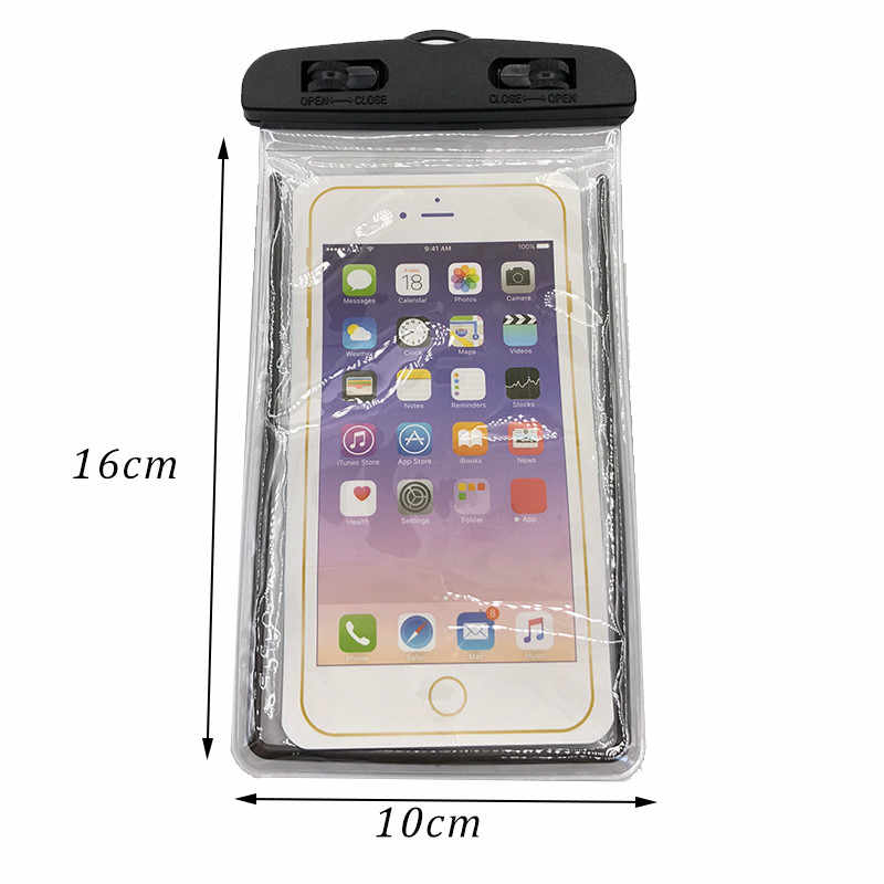 buy popular b53e9 65cf9 Clear Watertight Belt Waterproof Case Cover Against water Protector Pouch  Phone Bag For iPhone Samsung Xiaomi Huawei