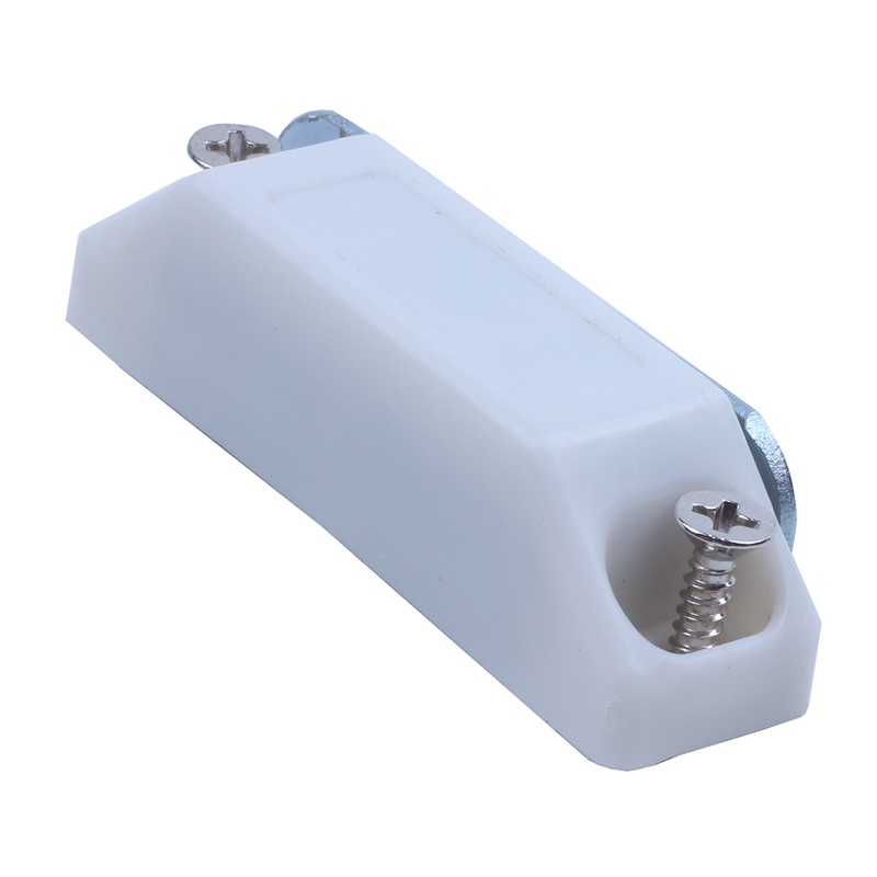 2 Pcs Cupboard Cabinet Doors Plastic Magnetic Catch Latch White 2.4 Inch