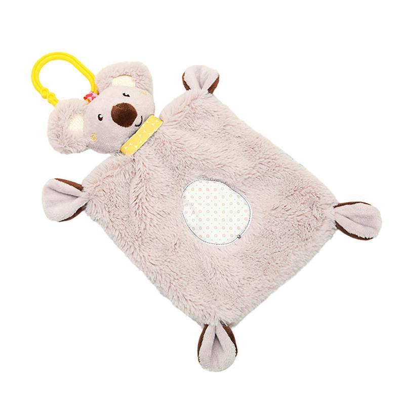 1PC Baby Rattle Towel Comforting Koala Plush Toy Multifunctional Sleep Cartoon Plush Animal Toys Children Sleeping Assistance