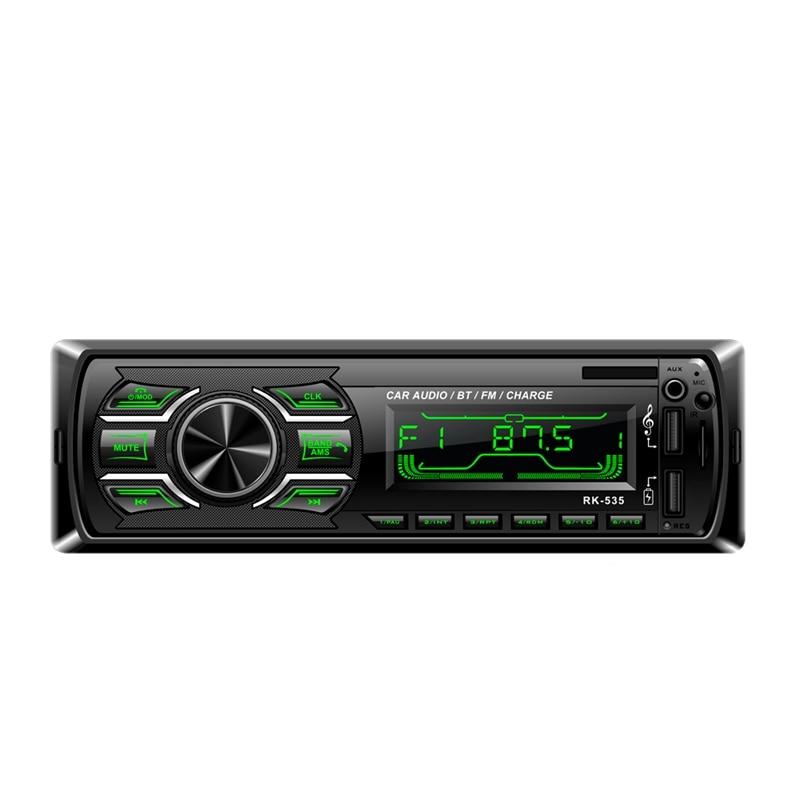NEW 1Din Car Fm Radio Mp3 Wma Player Bluetooth Aux Audio Player Rk 535