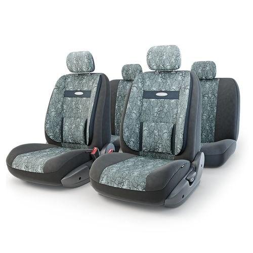 Cushion Cover Автопрофи COM-1105 Cyclone (M) COMFORT, orthopedist. Support, velour, 11 предм., pocket, 6 zippers, Jacquard чехол на сиденье autoprofi com 1105 cyclone м