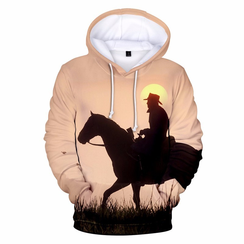 Game RED DEAD REDEMPTION 2 3D Printed Hooded Sweatshirts Streetwear Hip Hop Fashion Long Sleeve Warm Hoodies For Men And Women