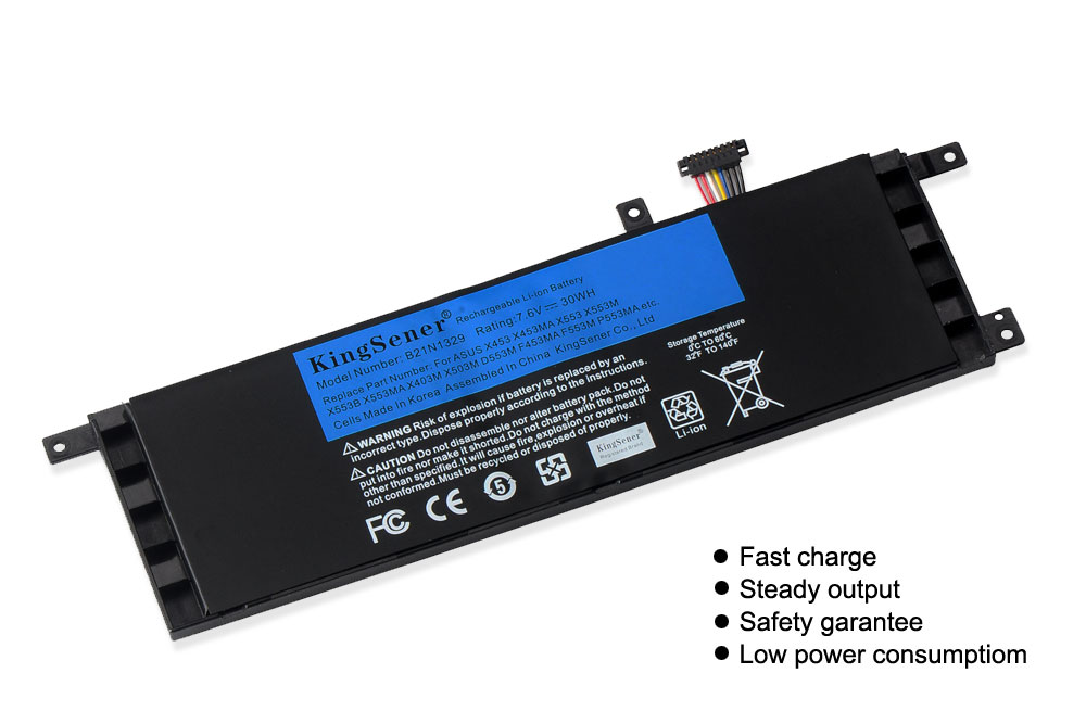 Image 2 - KingSener B21N1329 Laptop Battery for ASUS D553M F453 F453MA F553M P553 P553MA X453 X453MA X553 X553M X553B X553MA X403M X503M-in Laptop Batteries from Computer & Office