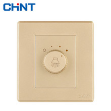 CHINT Wall Switches Tuning Switch NEW2D Light Champagne Gold Socket For Home Improvement Hotel