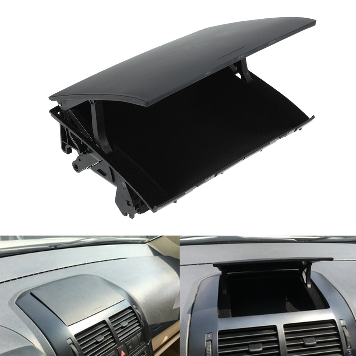 Black Front Console Water Cup Holder /& Card Slot for VW Polo 9N 2002-2010 ar
