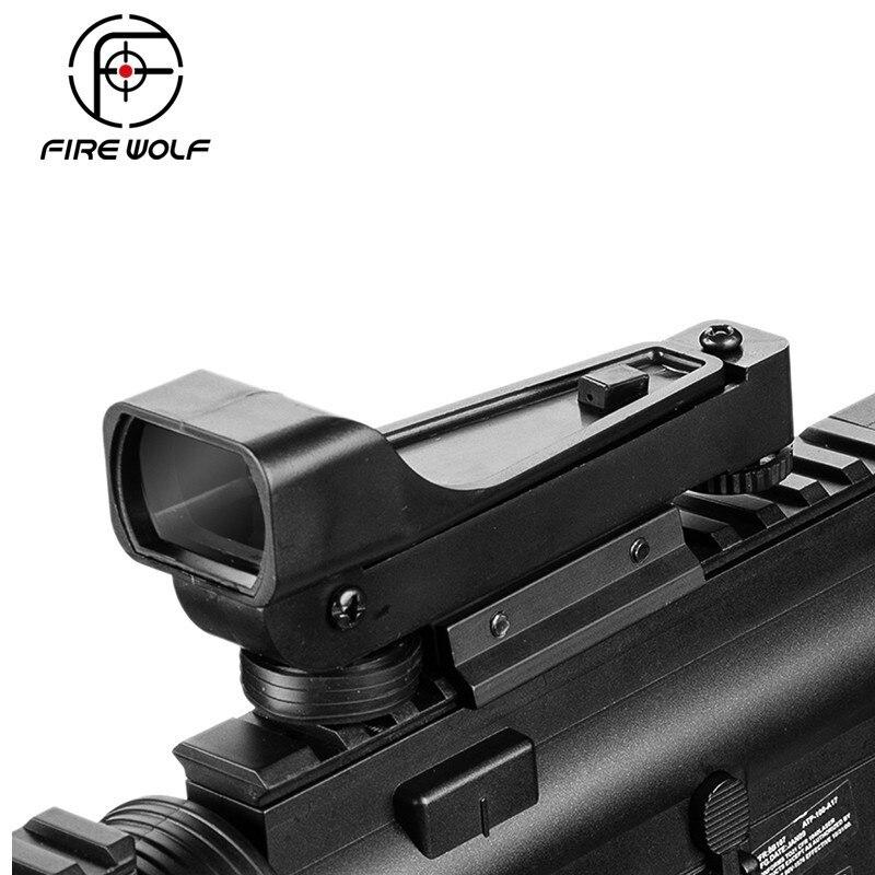 Tactical Reflex Sight Red Dot Sight Scope Wide View Airgun 11mm/ 20mm Weaver Rail Mounts Riflescope Ak 47 Hunting
