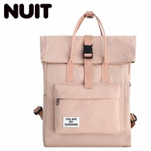 Female Canvas Backpack Bags Casual Girls Bag Woman Both Shoulders Fashion Students Campus School Wind