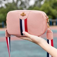 Женская Повседневная Мини Портативная сумка на одно плечо прямоугольной формы из искусственной кожи, сумка для телефона, новая трендовая сумка через плечо