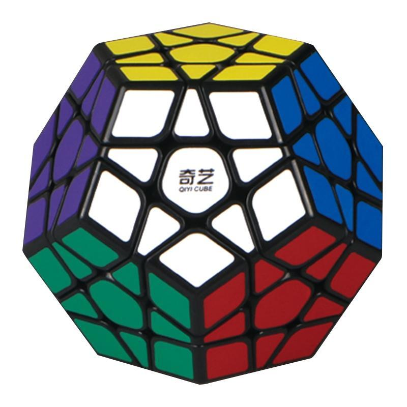 QiYi 3rd order Megaminx Magic Cube Stickerless Dodecahedron Speed Cubes Brain Teaser Twist Puzzle Toy