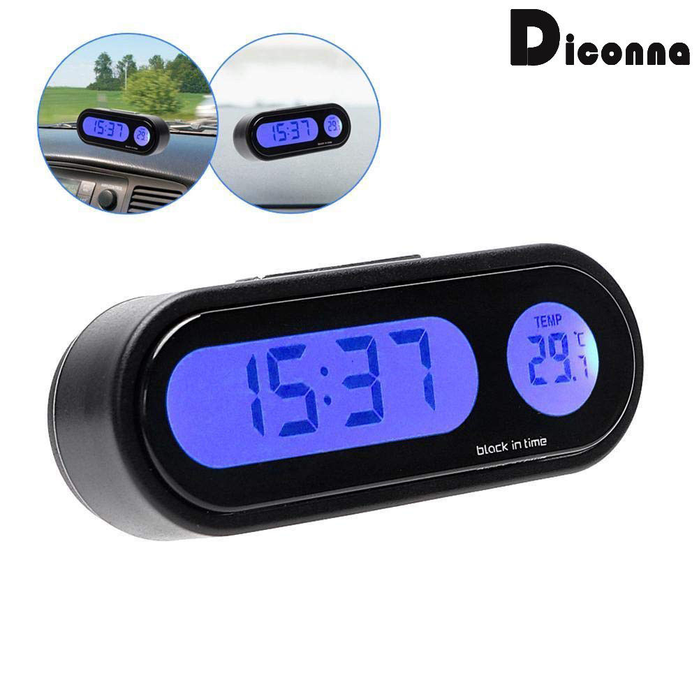 <font><b>Auto</b></font> <font><b>Auto</b></font> LCD <font><b>Digital</b></font> Uhr <font><b>Thermometer</b></font> Temperatur Spannung Meter Monitor image