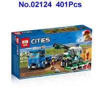 401pcs City Transporter Truck Harvester Lepin Building Blocks Compatible 60223 Toy(China)