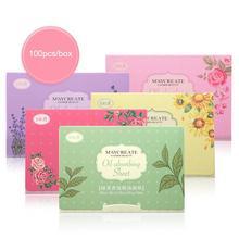 100 шт. Корейская ароматная тканевая бумага для лица, впитывающая масло бумага, растительные волокна, дышащий промокательный платок, цвет, Случайная