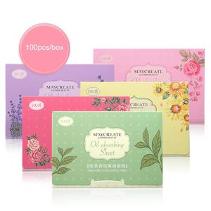 BellyLady 100 Pcs/box Face Oil Absorbing Paper Plant Fibres Breathable Linen Pulp Blotting Paper