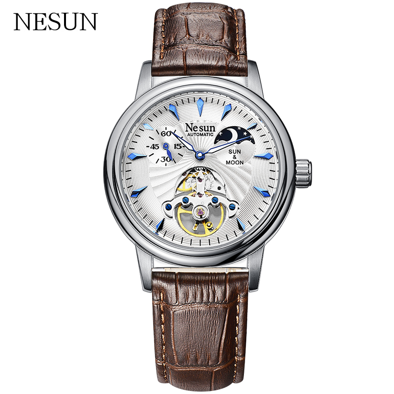 Luxury Top Brand NESUN Mens Sport Watches Fashion Leather Automatic Mechanical Men Wrist Watch Waterproof Fashion Casual Clock Luxury Top Brand NESUN Mens Sport Watches Fashion Leather Automatic Mechanical Men Wrist Watch Waterproof Fashion Casual Clock