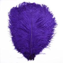 Wholesale cheap 10Pcs/Lot 15-70CM purple ostrich feathers crafts DIY long Wedding plumes Decorations