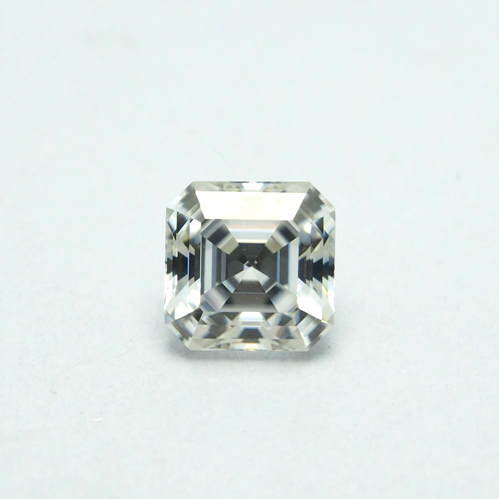 5*5mm  Asscher Cut White Moissanite Stone 0.63 carat Excellent Moissanite5*5mm  Asscher Cut White Moissanite Stone 0.63 carat Excellent Moissanite
