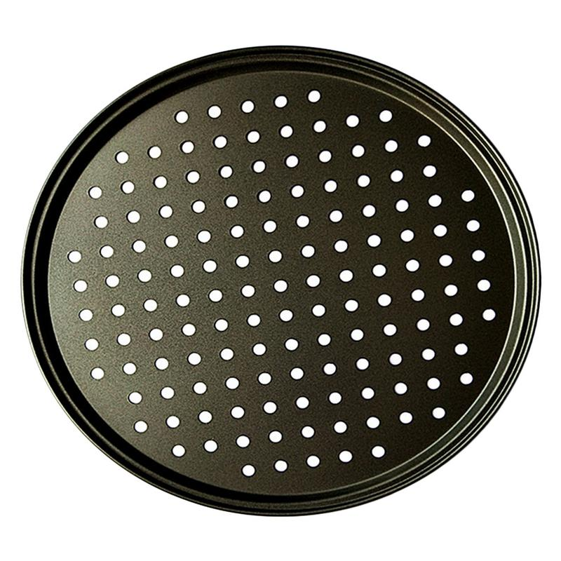 2pcs 12 Inch Round Pizza Baking Tray Carbon Steel Material Non-stick Baking Utensils Easy To Clean Good Kitchen Helper Quality