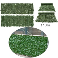 100x300cm Green Grass Artificial Turf Plants Garden Ornament Plastic Lawns Carpet Wall Balcony Cane Fence For Home Decor