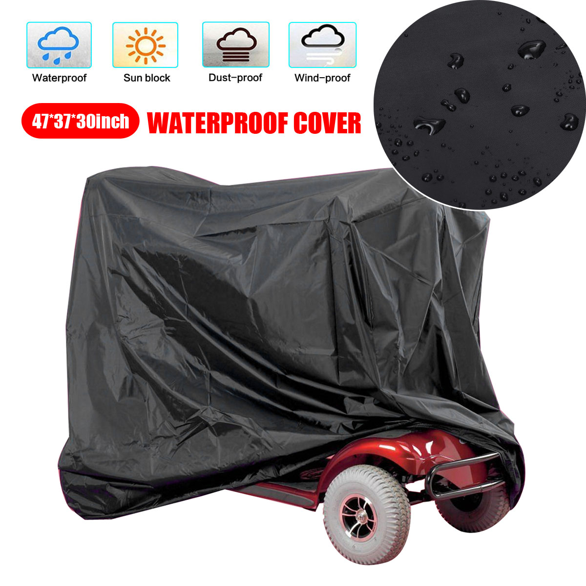 3 Size Black Silver Motorcycle Cover UV/Dust Protector Rain Dustproof Cover For Motorcycle Scooter ATV Lawn Mower Tractor