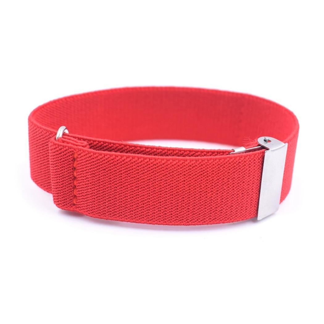 1 Paar Unisex Mode Anti-slip Hemd Hülse Strumpfbänder Einfarbig Verstellbare Armband Elastische Hülse Halter
