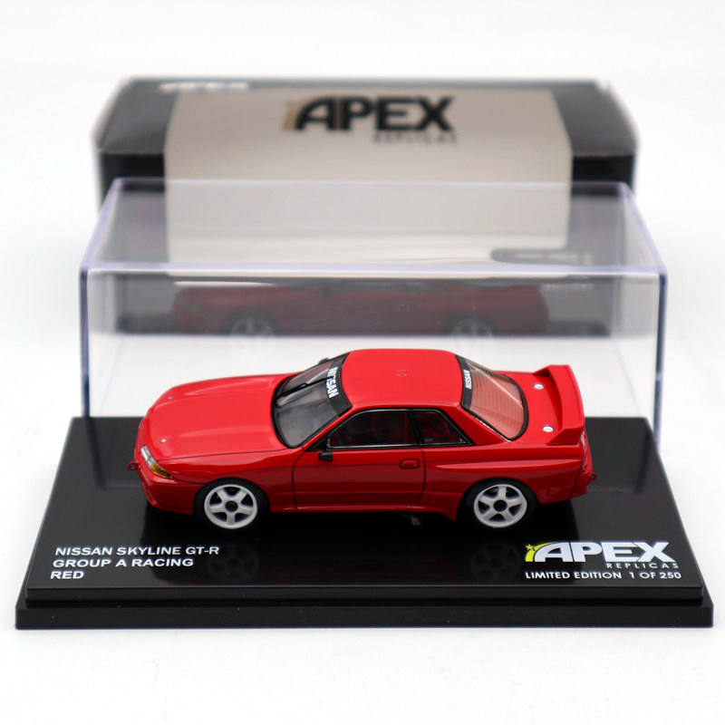 APEX 1:43 NISSAN Skyline GT R Group A Racing Red AR109 Diecast Models Limited Edition Collection Toys Car