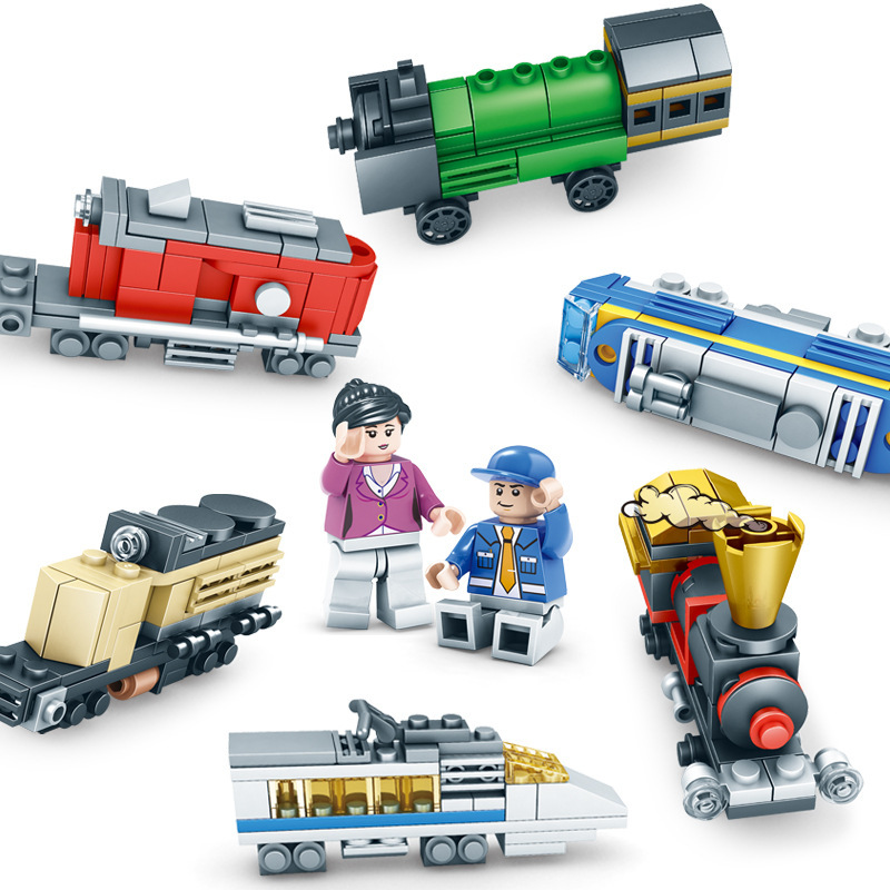 DIY  educational creative train model small particles assembled building blocks  toys for boys giftsDIY  educational creative train model small particles assembled building blocks  toys for boys gifts
