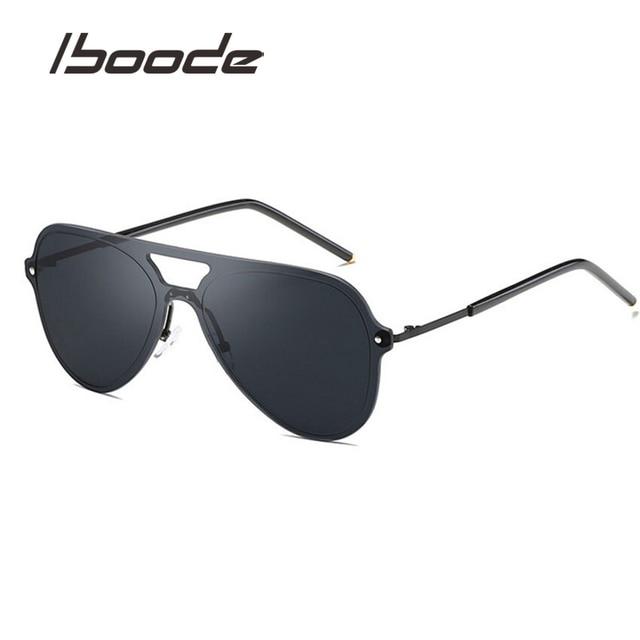 b4a530d3ac816 IBOODE Classic Sunglasses Women Men Pilot Driving Mirror Vintage Sun  Glasses Female Male Classical Metal Frame Driving Mirror