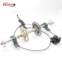610 мм задняя ось в сборе с 428#37 т звездочкой 160 мм дисковый тормоз UCP204 подшипник подходит для DIY Багги велосипед запчасти