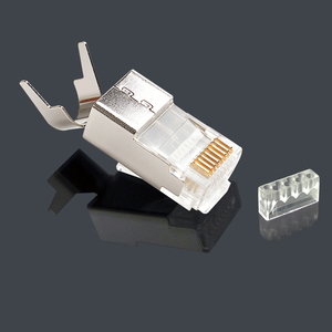 Image 3 - xintylink cat7 rj45 connector ethernet cable plug rj 45 cat6a male network conector shielded cat 7 8P8C stp lan modular jack