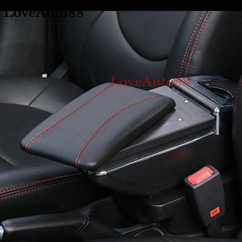 For Nissan micra/March Centre Console Storage Box Armrest Arm Rest Rotatable