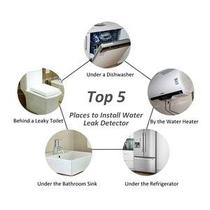 Image 5 - Идентификатор утечки воды WLD 806 Hidaka система сигнализации для домашней безопасности с 2 шт. DN15 детектор утечки воды
