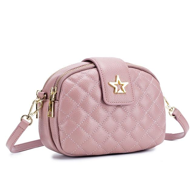Cow Leather Women Bags Shoulder Tote Bags Bolsos Designers Leather Ladies Handbags Sac Female Small Falp Women Messenger Bags