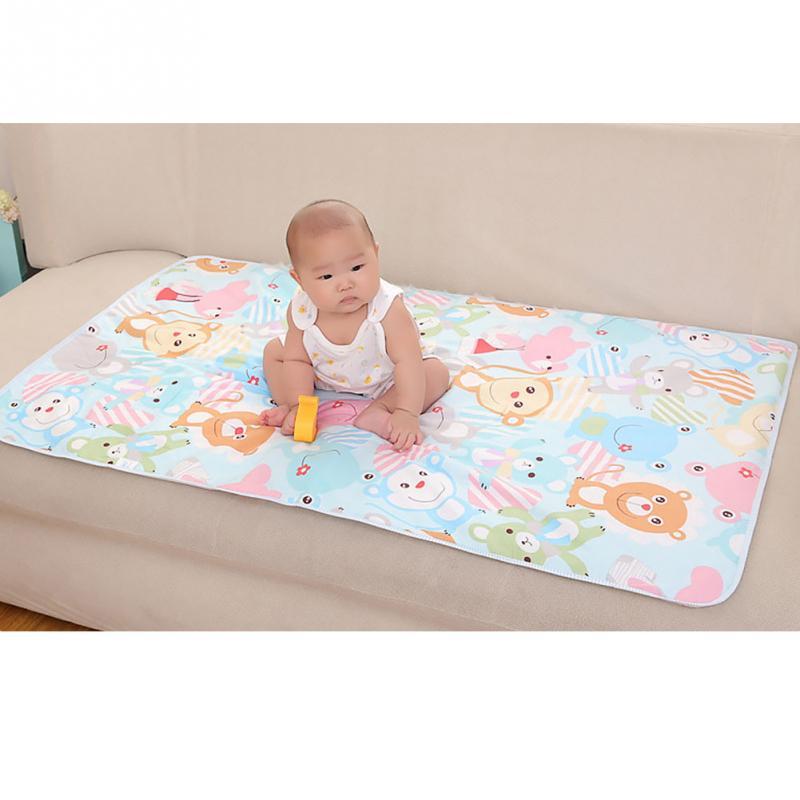 תינוק מזרן חיתול 3-שכבה חיתול שתן כרית קריקטורה מודפס מיטת מחצלת עמיד למים המשתנה תינוק אספקת אקראי צבע