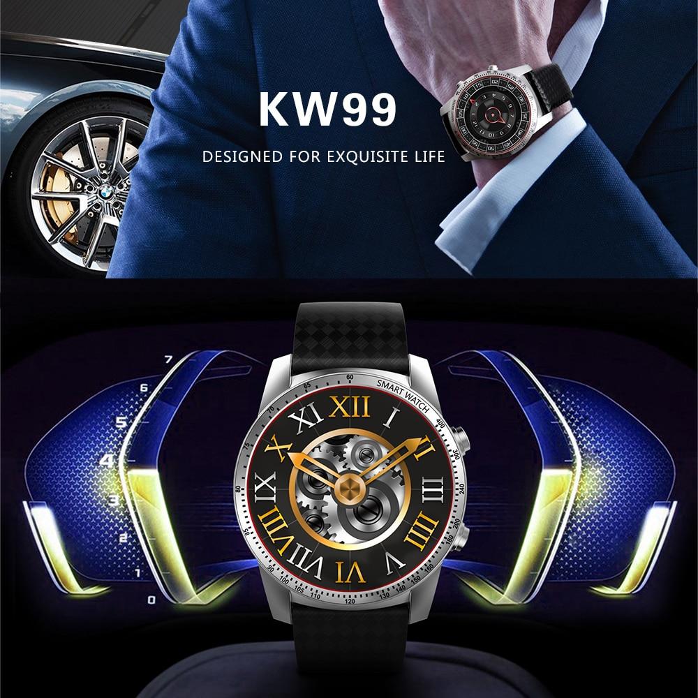 "Kingwear KW99 1.39"" Smart Watch Phone Android 5.1 MTK6580 RAM 512MB ROM 8GB GPS WiFi 3G SIM Card Heart Rate Monitor Smartwatch"